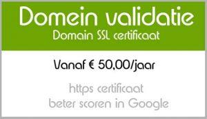 https website domein validatie vdb webdesign oudenaarde